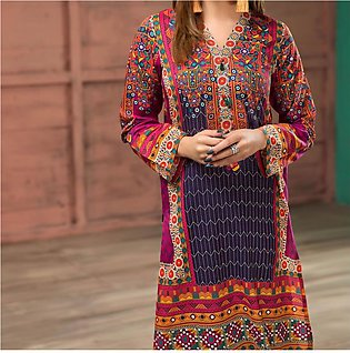Hit Latest Lawn Embroidery Dress 2020 2021 UnStitched (DRL-418)