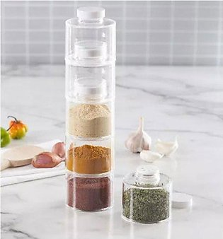 Spice Tower 6 Self-Stacking Spice Bottles 6 pcs Set
