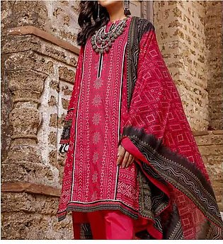 Lawn Digital Printed Suit With Lawn Duppata (DRL-868)