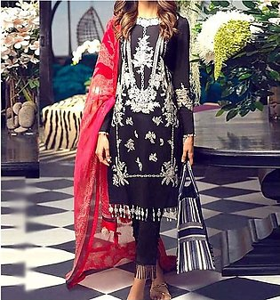 Lawn Embroidered Dress with Chiffon Dupatta UnStitched (DRL-657)