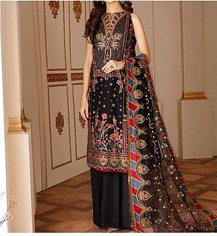 Heavy Full Front Embroidered Lawn Dress with Chiffon Dupatta UnStitched (DRL-...