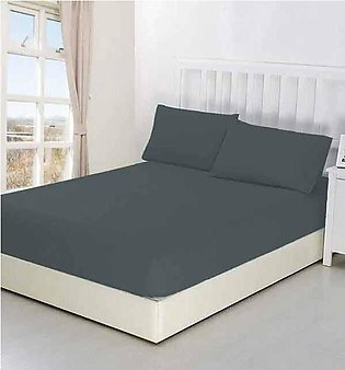 Single Bed Jersey Mattress Cover ( Fitted Sheet) - Grey