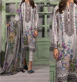 New Lawn Embroidered Dress With Chiffon Duppata UnStitched (DRL-643)