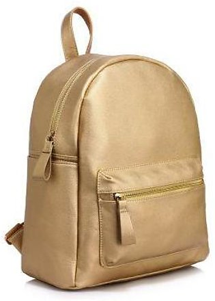 LS00186C Golden Backpack With Front Pocket