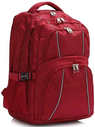 LS00444 Red Backpack Rucksack School Bag