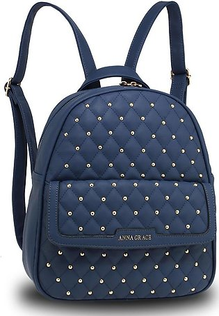 AG00712 – Navy Fashion Backpack School Bag