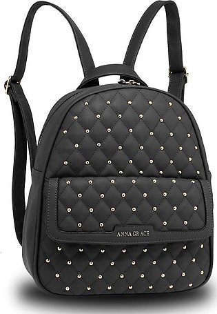 AG00712 – Black Fashion Backpack School Bag