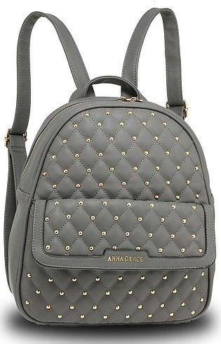 AG00712 – Grey Fashion Backpack School Bag