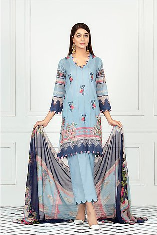 DPL20 136 Suit | Embroidered | 3 Pc