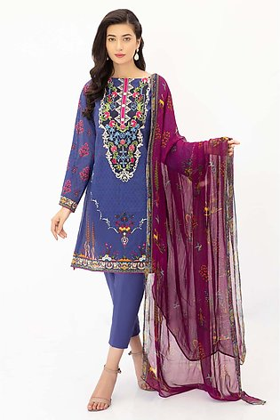 DPL20-296 Suit | Embroidered | 3 Pc