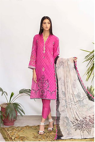 DPL20 142 Suit | Embroidered | 3 Pc