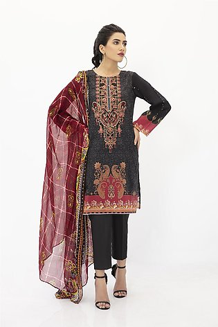 DPL20-299 Suit   Embroidered   3 Pc