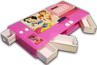 Kids Geometry Box With Calculator And 4 Drawers For Organizing Stationery - 2A-…