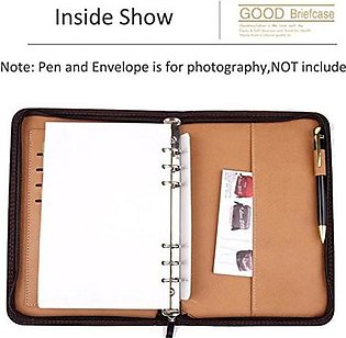 A5 Ring Bound Business Notepad with Built-in Calculator/Card Slot/Pen Holder/Re…