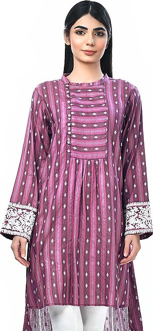 Limelight - Pink Khaadi Embroidered Shirt - 1 PC