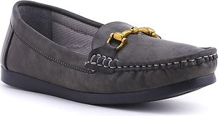 Grey Color Winter Moccasin WN4095