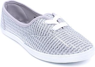 Grey Color Close Casual Sneakers WN6031