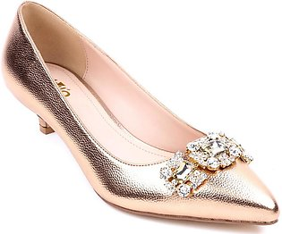 Champagne Color Fancy Court Shoes WN7041