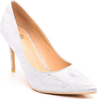 Silver Color Formal Court Shoes WN7070