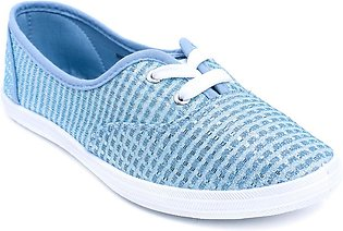 Blue Color Close Casual Sneakers WN6031