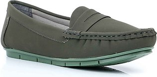 Green Color Winter Moccasin WN4061