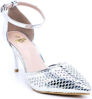 Silver Color Formal Court Shoes WN7065