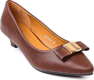Brown Color Formal Court Shoes Winter WN7044