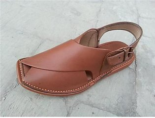 Light Brown Leather Pure Handmade People Pakistani Chappal KC-28