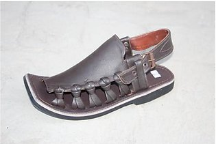 Brown Mild Leather Pure Handmade Surkhab Chappal KC-29