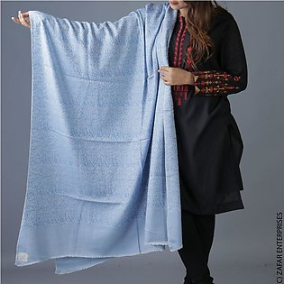 Blue Sharing Pure woolen Shawl or Stole for Her SHL-288-4