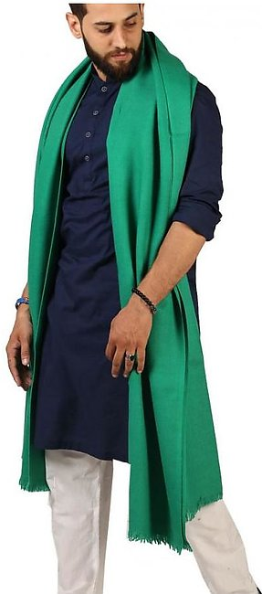 Green Pure Woolen Light Weight Pashmina Lohi Shawl For Him SHL-173