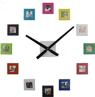 New Big DIY 12 Photos Frame & Wall Clock