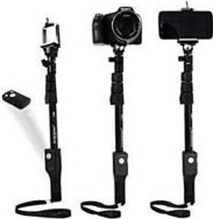Bluetooth Selfie Stick For Smartphones & Digital Cameras Black Yt 1288