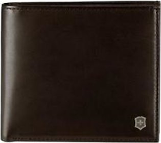 Victorinox LEATHER WALLET WITH GEOMETRIC DESIGN (BROWN)