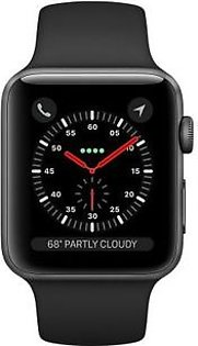 Apple iWatch Series 3 (MQL12) 42mm Space Gray Aluminum Case with Black Sport Band GPS