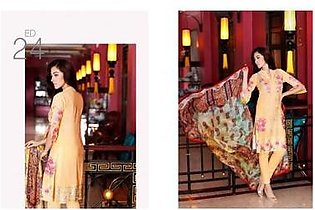 Charizma 3 Piece Embroidered Swiss voil Suit (CR16E 24)