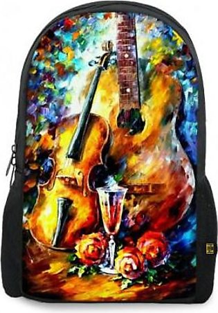 Guitar And Violin Printed Backpacks BG-967