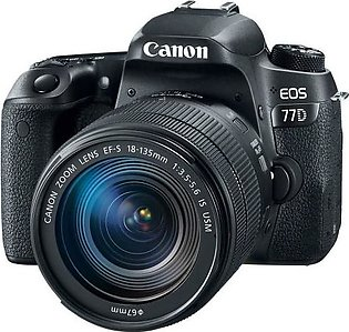 Canon EOS 77D DSLR Camera With 18-135mm STM Lens - MBM Warranty