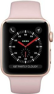 Apple iWatch Series 3 (MQL22) 42mm Gold Aluminum Case With Pink Sand Sport Band GPS