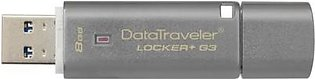 Kingston 8GB USB 3.0 DT Locker+G3 w/Automatic Data Security DTLPG3/8GB