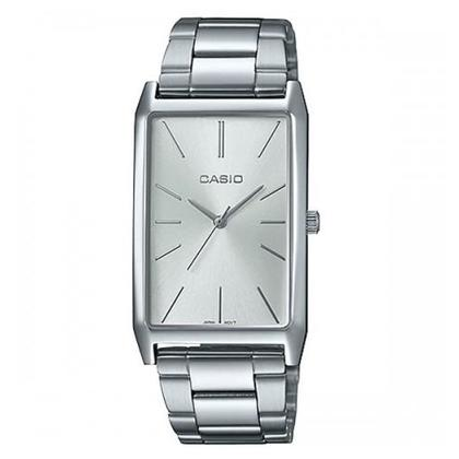 Casio Women's Watches LTP-E156D-7ADF Silver Plated Metal Wire