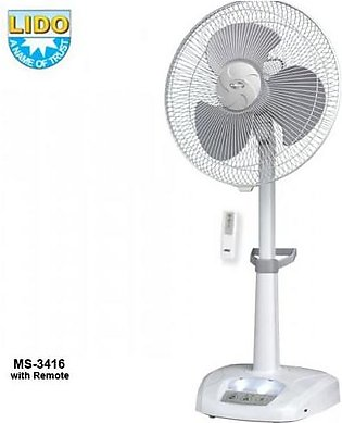 Lido Rechargeable Fan With Remote (MS-3416)
