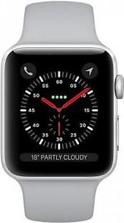 Apple Watch Series 3 MQKU2 38MM Silver Aluminum Case With Fog Sport Band (GPS)