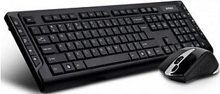 A4TECH Wireless Keyboard & Mouse Set 6300F (Black)