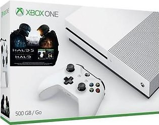 Microsoft Xbox One S Console 500GB(HDD) Halo Collection Bundle White