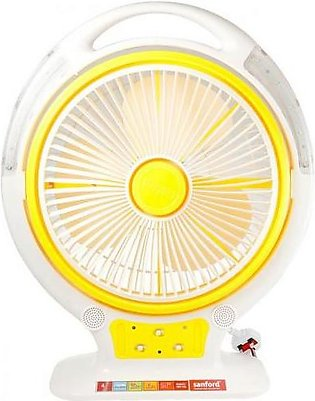 Sanford 14 Inches Twister Rechargeable Table Fan SF962RTFBS