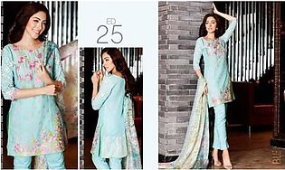 Charizma 3 Piece Embroidered Swiss voil Suit (CR16E 25)