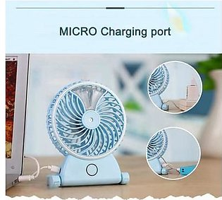 Portable Rechargeable Humidifier Water Spray Air Conditioning Cooler Fan