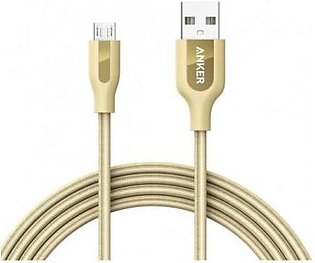 Anker POWERLINE+ MICRO USB Android Data Cable 6ft Gold A8143HB1