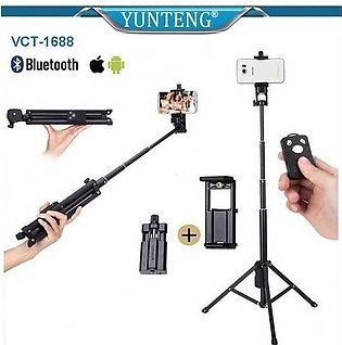 YuYunteng Selfie Stick VCT-1688 With Built in Tripod and Bluetooth Shutter - ...